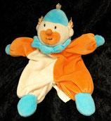 Schmusetuch  Puppe / Püppchen / Clown orange beige