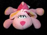 KIK Hase  Schmusetier pink/rosa Hase / Rabbit lange Ohren