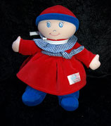 SIMBA  Puppe Weichpuppe Babypuppe rot/blau