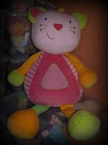 Baby Fehn Katze Deko für Mädchenzimmer  XXL rosa