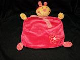 Topolino Schmusetuch Käfer pink Blume / mit Schal