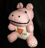 Knautschi / Puffalump   Nilpferd / Hippo  I ♥ you / i love you