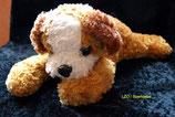 Volksbank / Bank liegender  Hund 22 cm
