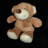 Nicotoy / Baby Club Teddy mit Schal gestreift