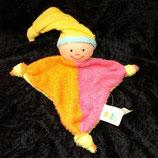 ZAPF softline  Schmusetuch Puppe / Wichtel Frottee orange / pink