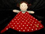 SPIEGELBURG Baby Glück Schmusetuch Mädchen rot weiße Punkte
