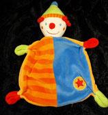 Baby Club / Fehn Schmusetuch Clown Puppe  Stern rot