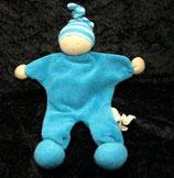 ALANA  Stoff Puppe Wichtel Zwerg Schmusetuch blau