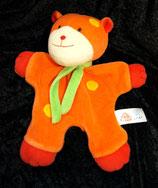 Baby fehn  Schmusetuch  Teddy / Katze orange Nicki