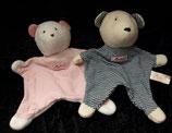 Sigikid Schmusetuch First Friends  Bär / Teddy rosa oder blau  klein