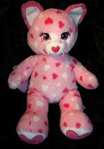 Build a Bear / BAB Katze  rosa  Herzen ♥  11/14