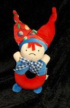 TCM / Tchibo Rassel / Greifling Clown Puppe *RAR*