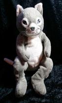IKEA Stofftier Katze Gosig in grau