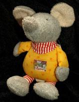 SIGIKID Pets Klecks Spieluhr Maus gelb rot/weiß Beine