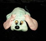 Knautschi / Puffalump  Hund türkis / rosa aus Nylon