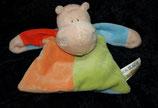 EDDY TOYS Schmusetuch Nilpferd Hippo figürlich