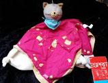 Esprit Schmusetuch Katze pink mit Pferden NEU