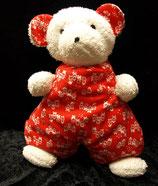 SIGIKID Teddy Bär rot weiß Frottee Muster