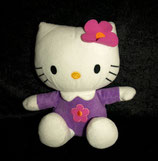 Hello Kitty Nicki weiß lila mit Blume