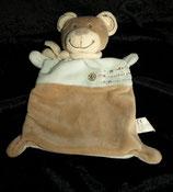 Nicotoy / Baby Club Schmusetuch Teddy / Bär  hellblau / braun