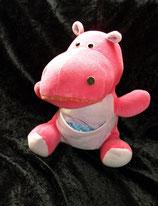 Sparkasse ? Hippo / Nilpferd Nicki pink  80er Jahre