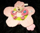 SIMBA Schmusetuch Schmetterling auf Blume rosa