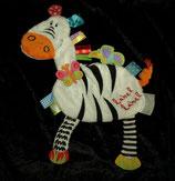 Label Label  Schmusetuch Zebra