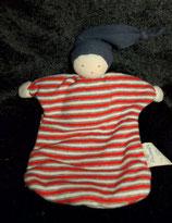 ALANA  Stoff Puppe Wichtel Zwerg Schmusetuch sweat getreift