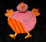 Schmusetuch Topolino Ente / Vogel / Küken  pink / orange