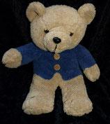 XToys / Centor Kuscheltier Teddy blau lila Jacke / Pullover