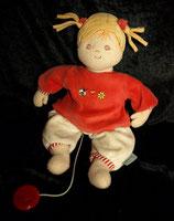 Sterntaler Spieluhr Puppe Magdalena rot bespielt