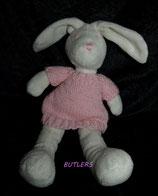 BUTLERS Hase mit rosa Kleid