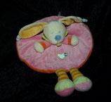 Nicotoy / Baby Club Schmusetuch Hase rund rosa / orange
