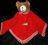 SIGIKID Schmusetuch Bär / Teddy rot Fleece
