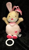 Babydream / ROSSMANN Spieluhr Hase  rosa Streifen