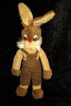70er 80er Jahre Hase / Bunny Vintage mit Latzhose 45 cm