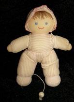 sehr alte Sterntaler Spieluhr Puppe / Püppchen 24 cm