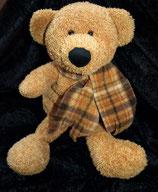 Bambia / Sparkasse Handpuppe Teddy / Bär mit Schal