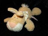 NICI  Hase / Bunny / Rabbit Carotti liegend mit Halstuch