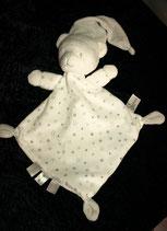 Nicotoy / Baby Club Schmusetuch Bär / Teddy  Sterne weiß
