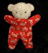 SIGIKID Teddy rot / weiß Rarität