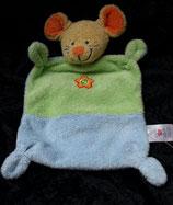 Nicotoy / Baby Club Schmusetuch Maus grün / blau