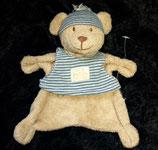 Nicotoy / Baby Club Schmusetuch Bär mit Shirt blau