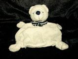 Baby Club / Fehn Schmusetuch  Teddy / Bär weiß / creme Halstuch getreift