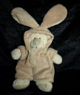 Nicotoy / Baby Club Bär / Teddy im Hasenanzug / creme