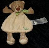 """Ergee / KIK / C.A.T Schmusetuch Bär Teddy   """" Baby teddy """" beige grüner Schal"""