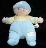 SIMBA  Puppe Weichpuppe Babypuppe blau/gelb