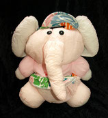 "Euro Play Knautschi / Puffalump  Elefant  "" Hawaiian Knautschi """