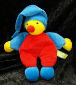 SIMBA  Puppe Harlekin / Narr / Clown  blaue Zipfelmütze / Körper rot