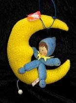 Käthe Kruse Spieluhr Puppe auf Mond   NEU